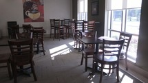 empty coffee shop