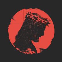 Jesus grunge silhouette