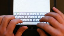 Writing Sms On The Tablet