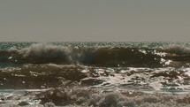 crashing waves slow-motion