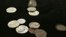 pouring coins