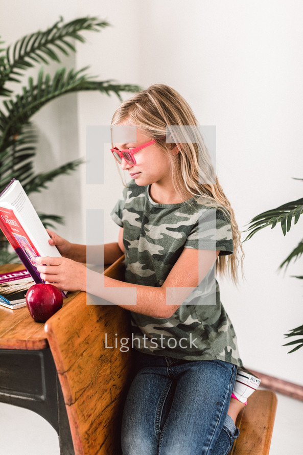 student learning at home