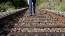 Journey on the train tracks.