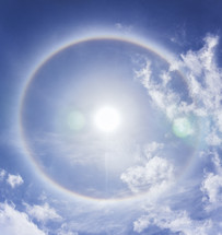 halo from the sun in the sky, Heavenly
