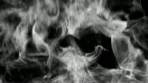 Smoke rising.
