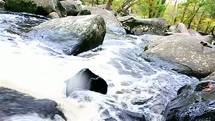 flowing water in a stream