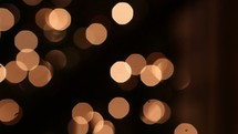 boken Christmas lights