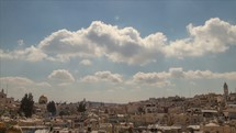 Timelapse of cloud movement taken from the rampart in the Old City of Jerusalem.