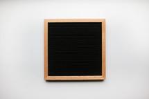 blank announcement board