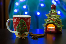 Christmas Mug with Christmas Tree Candle