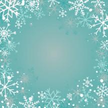 faded snowflake border