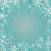 faded snowflake border