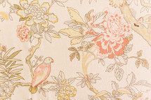floral pattern background with parrot