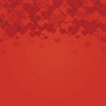 red heart vector background.