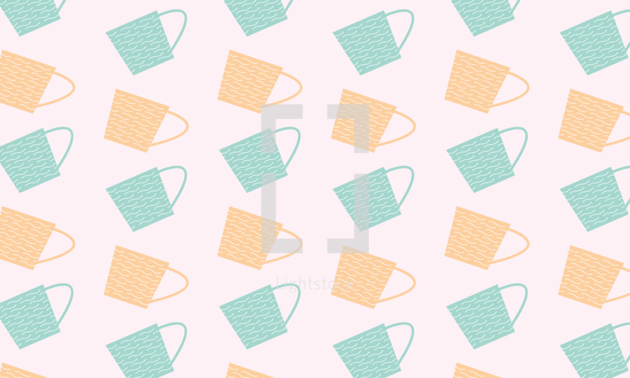 Cute cup pattern background