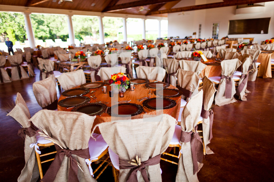 Wedding tables with decorations