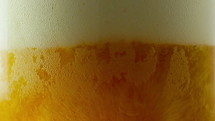 beer foam in a glass