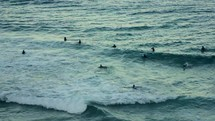 Surfers in the ocean.