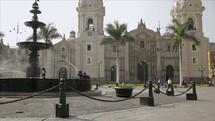 Town square in Peru.