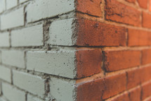corner of a brick wall