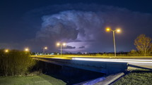 Timelapse of a massive lightning storm over Dallas, Texas.
