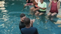 a man being baptized