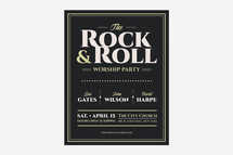 The Rock & Roll Worship Flyer Template