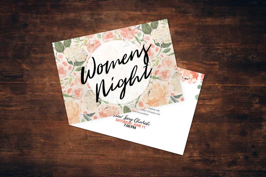 Women's Night Card