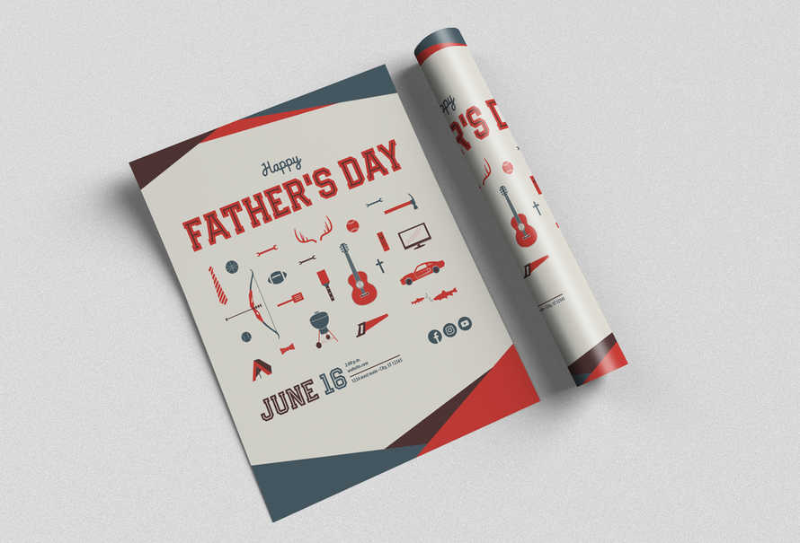 Father's Day Flyer - 3 sizes 8x11, 4x6, 3.5x8.5