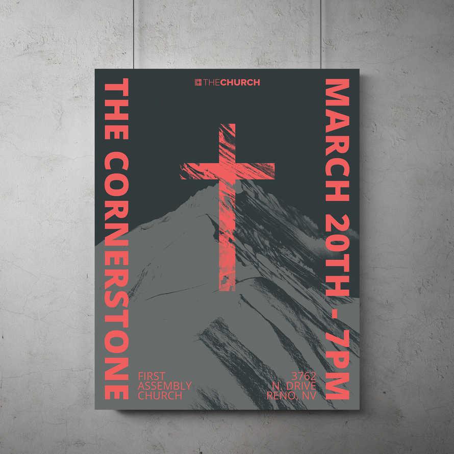 The Cornerstone Flyer Template