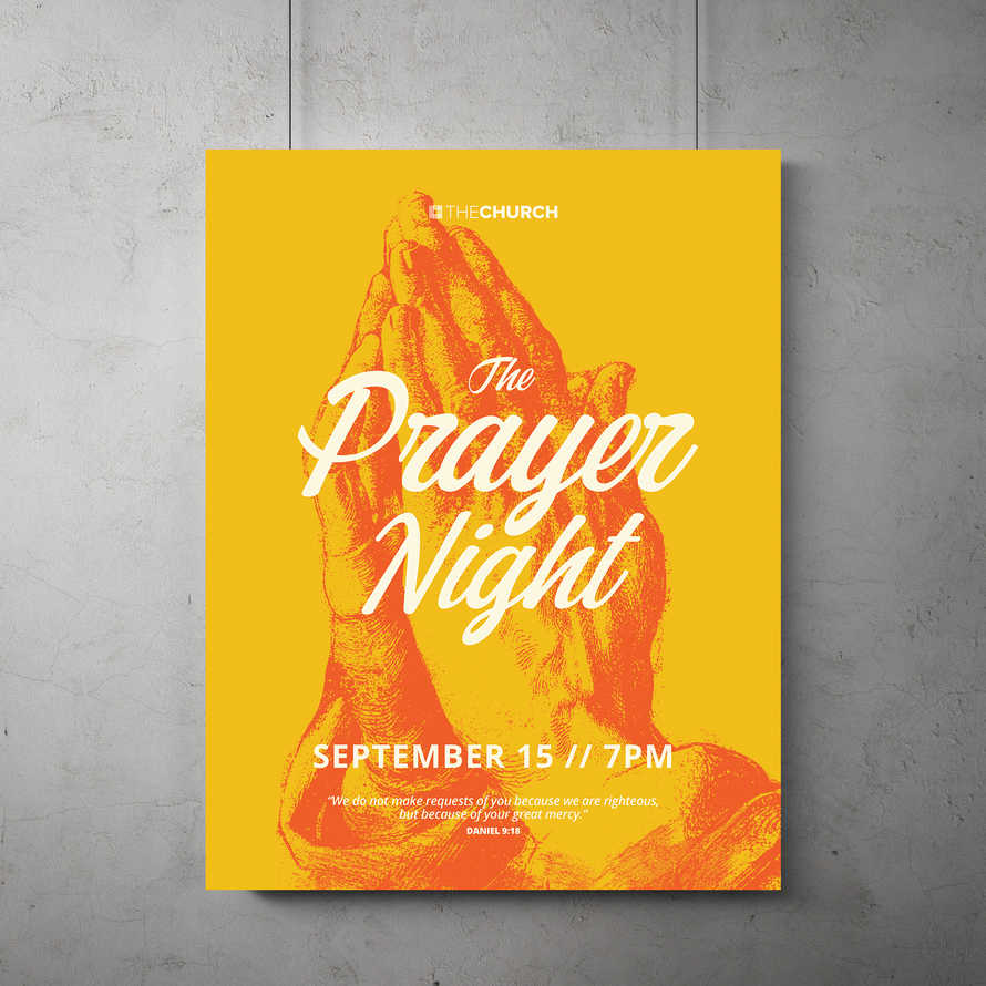 The Prayer Night Flyer Template