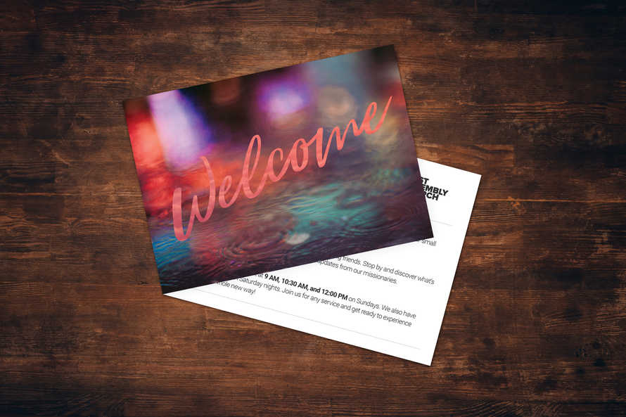 Modern Welcome Card