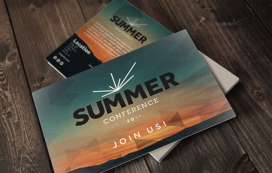 4x6 Postcard - Summer Conference editable