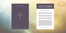 Geometric Welcome Connection Card