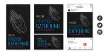 Online Prayer Gathering Social Graphic Set