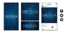 Livestream Social Graphic Set