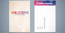 New Life Watercolor Prayer and New Here Card Set
