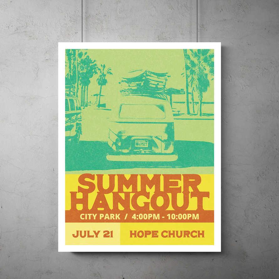 Summer Hangout Flyer Template
