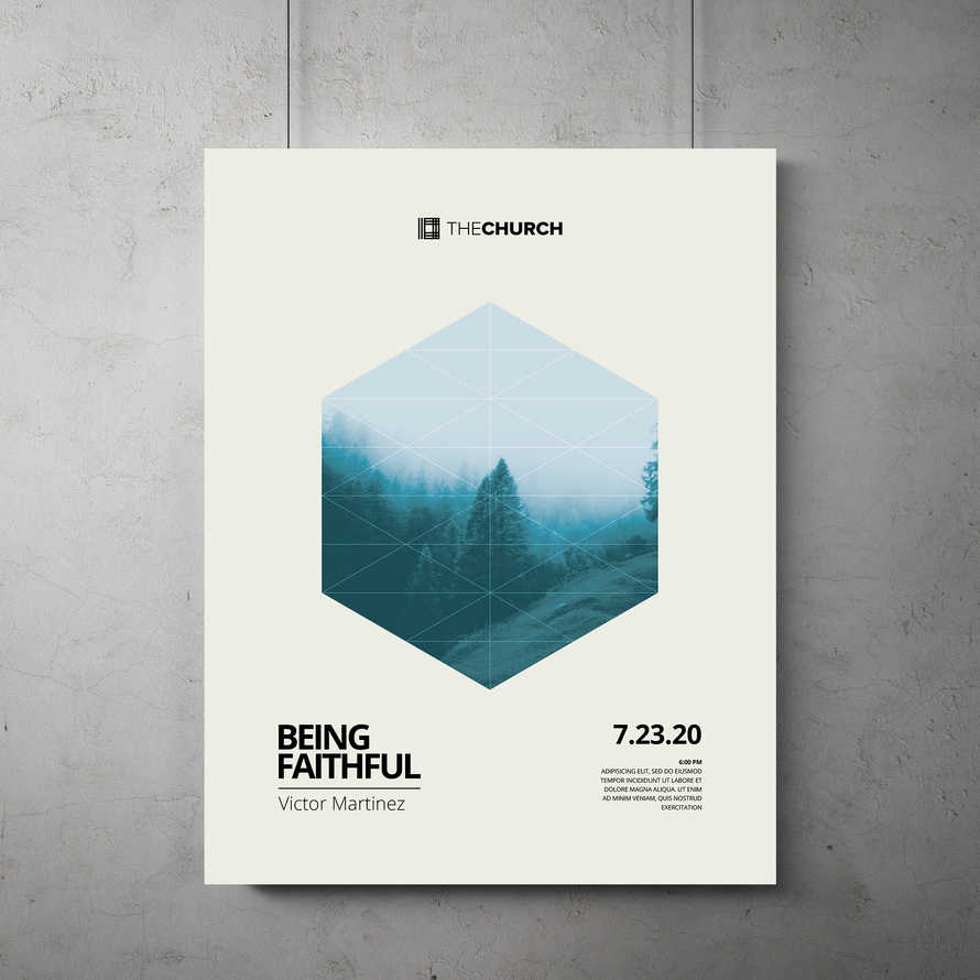 Being Faithful Flyer Template