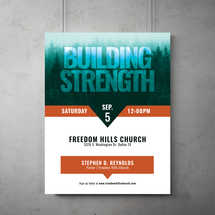 Building Strength Flyer Template