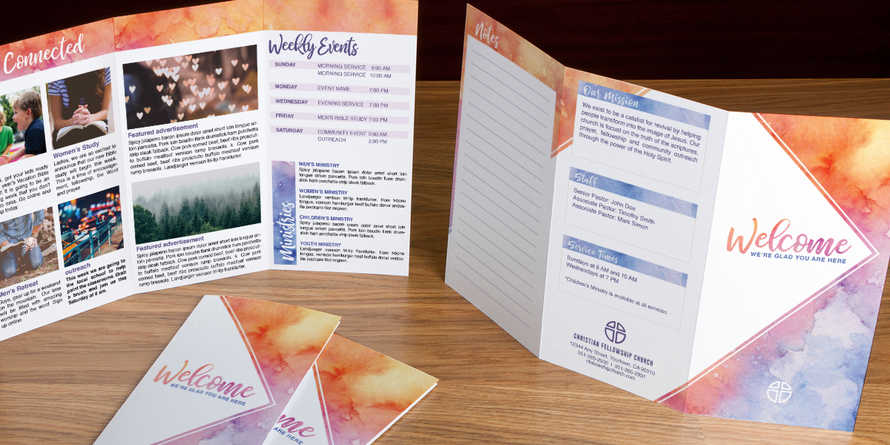 Welcome Watercolor trifold