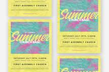 Summer Church Bash Flyer Template