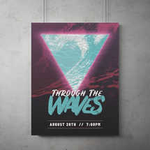 Through The Waves Flyer Template