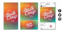 Virtual Youth Group Social Graphic Set