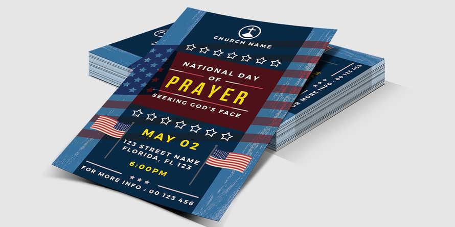 National Day of Prayer Church Flyer
