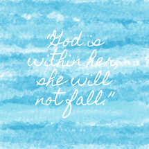 God is Within Her Watercolor Social Media Graphic