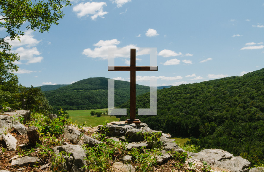 cross on the edge of a cliff