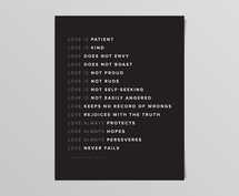 Love Is - Version Dark Digital Print