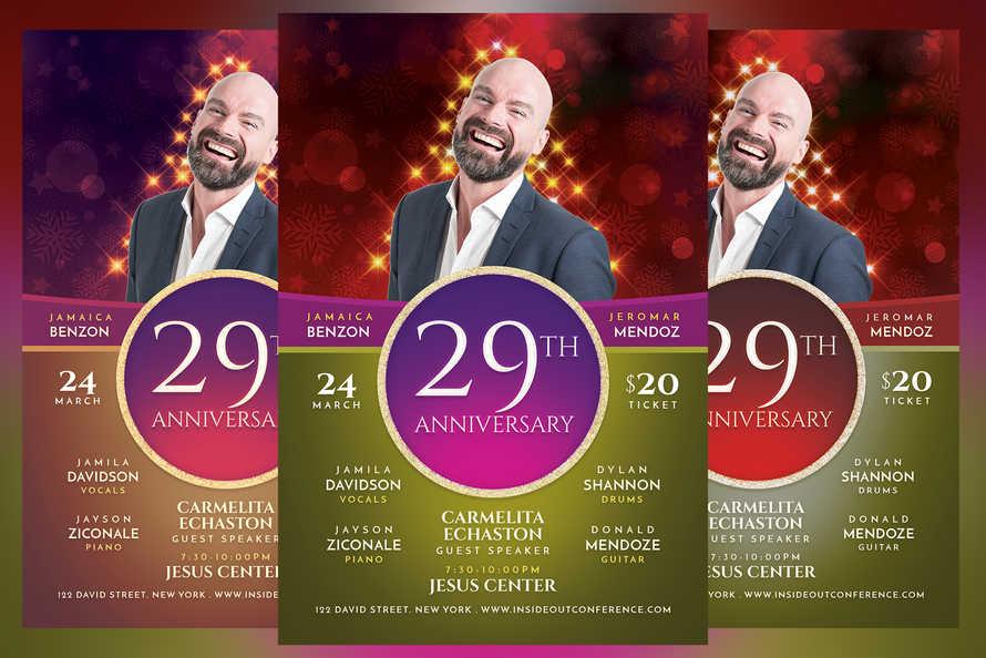 Anniversary Church Flyer
