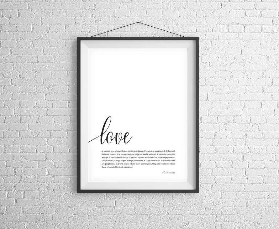 Love is Patient Digital Print